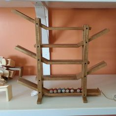 Marble Run Game Amish Made Handcrafted Wood Race Track CAR ROLLER RACETRACK Wooden Handmade Toddler Boy Birthday Gift Ideas Toys Kids Games