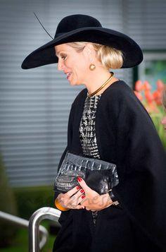 Reina Máxima de Holanda en blanco y negro