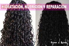 Risos & Risos: Todo lo que Necesitas Saber Sobre Hidratación, Nutrición y Reconstrucción para Rizos Curly Hair Styles, Color Del Pelo, Hair Hacks, Hair Tips, Curls, Travel Tips, Makeup, Europe, Board