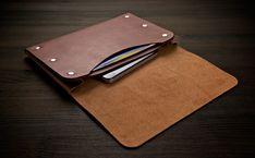 The Six-Rivet Wallet, Landscape. Leather Tooling Patterns, Leather Wallet Pattern, Handmade Leather Wallet, Leather Gifts, Leather Pouch, Leather Craft, Leather Men, Leather Purses, Leather Wallets