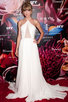 Taylor Swift in Emillio Pucci during the 2013 Fragrance Foundation Awards on June 12, 2013