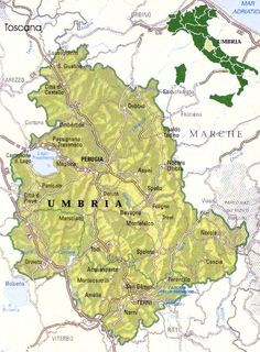 Tour Umbria - Map of Umbria, Italy