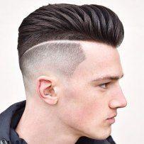 Textured Modern Pompadour High Bald Fade Part