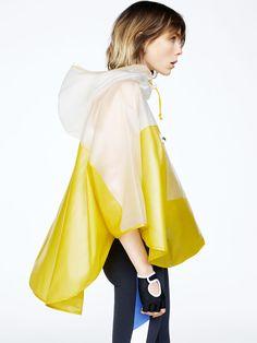 Image 1 of from Zara Gym Wear For Women, Women Wear, Raincoats For Women, Jackets For Women, Athleisure, Street Looks, Rain Jacket Women, Yellow Raincoat, Sporty Chic