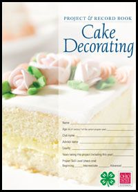 H Cake Decorating Record Book