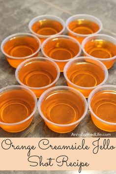 Orange Creamsicle Jello Shots With Water, Orange, Amaretto Liqueur, Vodka