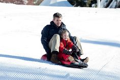 Crown Prince Frederik of Denmark and Princess Josephine of Denmark attend a Photocall during their annual Ski holiday, on February 8, 2015 in Verbier, Switzerland.