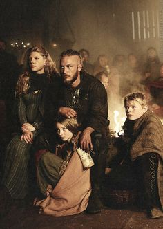 Ragnar Lothbrok and his family. Vikings.