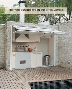 "Not that I'll probably ever have an ""outdoor kitchen"" but I thought this was very clever."