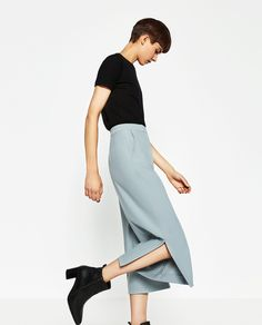 Image 3 of CULOTTES WITH SLITS from Zara