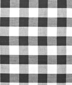 """Black Gingham Fabric - 1"""" it never grows old Onlinefabric.com $3.70 yd."""