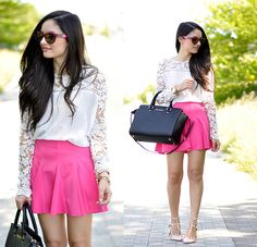 Choies Shirt, Choies Skirt, Anna Xi Flats, Alain Afflelou Sunglasses