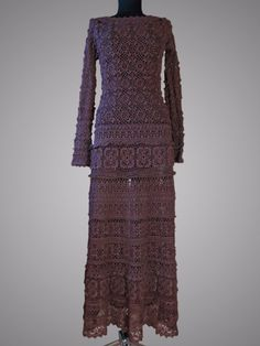 Crochet dress The Countess. Regal brown special от TsarevaCrochet
