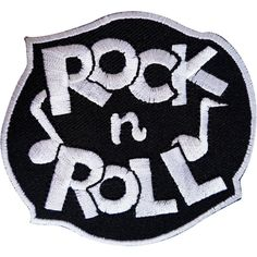 Rock N Roll Embroidered Patch Music Badge Iron On and Sew On Jeans Shirt Clothes