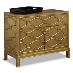 Bedroom Furniture Erica Bar Cabinet Gold