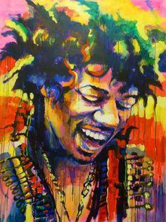 Jimi Hendrix_Acrylic on canvas 92x116 cm