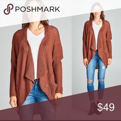 🍂Oversized Knit Cardigan Gorgeous Oversized Knit Cardigan in a beautiful Rust Color. Perfect for the fall weather 🍂 Sweaters Cardigans