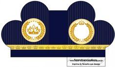 Caixa Coração Coroa Príncipe Azul Marinho