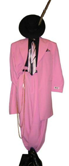 mens zoot suits | SKU# TRS825 Men's Pink Fashion Dress Zoot Suit $500