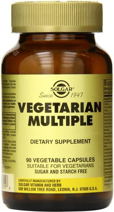 Solgar Vegetarian Multiple Vegetable Capsules 180 Count * You can find out more details at the link of the image. Vegetarian Iron, Vegan Vitamins, Natural Health Remedies, Dairy Free, Herbs, Vegetables, Healthy, Count, Timeline
