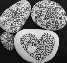 Black and white pebbles - beautiful.