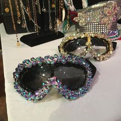 Only 2 lucky people got to wear my jeweled and bedazzled playa goggles this year. More in the making! #ineffableglitter #burningman #theplaya #bedazzled #burningmangoggles #burnergirls