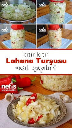 How to Make White Cabbage Pickles (with video) Recipe? Turkish Recipes, Ethnic Recipes, Good Food, Yummy Food, Pickling Cucumbers, Turkish Delight, Fermented Foods, Food Pictures, Food Videos