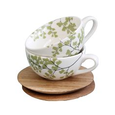 We heart this teacup and saucer set from Love Milo with its pretty botanical motif. Tea Cup Set, Cup And Saucer Set, Love Milo, Cool Cafe, Black And White Design, Botanical Prints, Homemaking, Decorative Bowls, Carving