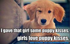 <3 puppy kisses