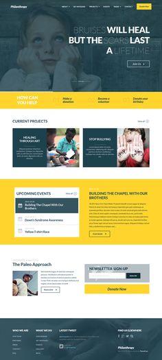 Philanthropy New Nonprofit WordPress Theme #webdesign #charity