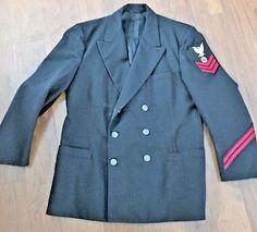 Vintage Military U.S. Navy Wool Jacket-Jacket Pea Coat Men's - 42 R Mint   Clothing, Shoes & Accessories, Vintage, Men's Vintage Clothing   eBay!