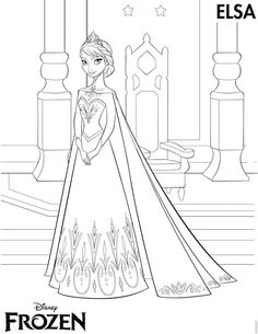 elsa head coloring pages | Frozen Coloring Pages Round Up, Elsa Anna Kristoff Olaf ...