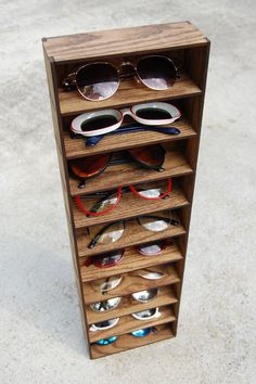 Storage Shelving Organizer Shelf Wall Mounted Sunglasses Glasses 3D Storage Shelf Case Holder Rack