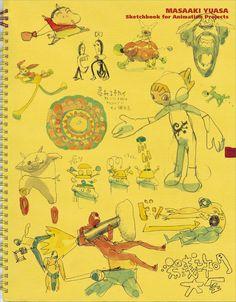 Masaaki Yuasa Sketchbook for Animation Projects Anime Manga Art Book Crayon Shin Chan, Illustrations, Illustration Art, Character Art, Character Design, Character Sketches, Chibi, Art Sketchbook, Manga Art
