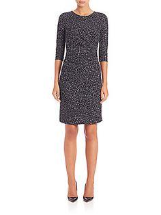 BOSS Epulina Printed Jersey Dress
