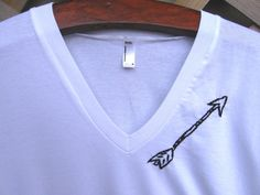 Made to order/Hand Embroidered Arrow T-shirt...I would use htv or screen print, buy I LOVE the placement;)