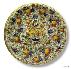 Extra Large Decorative Plates - Foter  sc 1 st  Pinterest & MAJOLICA CORNUCOPIA: Extra large wall plate with crest (28D) | Walls ...