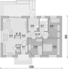 Rzut parteru projektu Mokka 3 Best House Plans, Good House, Floor Plans, How To Plan, Mocha, Floor Plan Drawing, House Floor Plans
