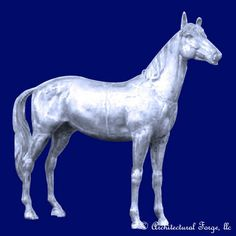 "Horse - Trotter Landscape Sculpture. Animal Sculptures̴Ì_made of cast aluminum that are light weight and are weather resistant year round. Finishing options are endless to customize your piece. We recommend Rust-Oleum® spray products at your local hardware store. Please allow approximately 3-4 weeks for custom orders before shipping.  Dimensions:  Length: 77"" Width: 20"" Height: 68"" Weight: 249 lbs."