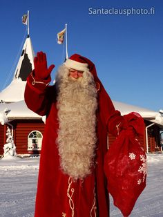 Santa Claus and Christmas House in Santa Claus Holiday Village in Rovaniemi… Merry Christmas To All, Father Christmas, Christmas Art, Christmas Photos, All Things Christmas, Finland Trip, Santa Claus Photos, Santa Claus Village, Santa Suits