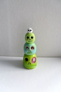 Polymer Clay Sculpture - The Zombie Totem - Halloween Decoration - Zombie Figurine - OOAK