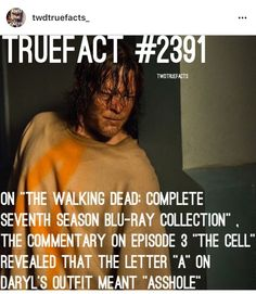 TWD facts The Walking Dead, Walking Dead Facts, Walking Dead Quotes, Walking Dead Pictures, Talking To The Dead, Dead Zombie, Stuff And Thangs, True Facts, Daryl Dixon