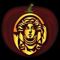 Madame Leota 01 - Pumpkin Stencil