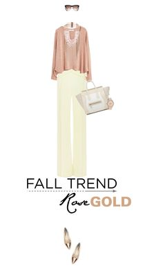 """""""Fall Jewelry Trend: Rose Gold"""" by missioppa ❤ liked on Polyvore featuring Thierry Mugler, MANGO, Rosantica, Sophia Webster, CÉLINE, Betsey Johnson, rosegold and falltrend"""