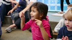 An eager storytime participant!