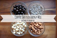 coffee infused energy mix {with chocolate covered espresso beans}