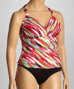 Loving this Molded Cups Tankini Top - Plus on #zulily! #zulilyfinds
