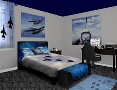 Jet Fighter Wall Murals, take control of the skies. Take a look at our Jet Fighter designs at http://www.visionbedding.com/WallMurals/JetFighter.php