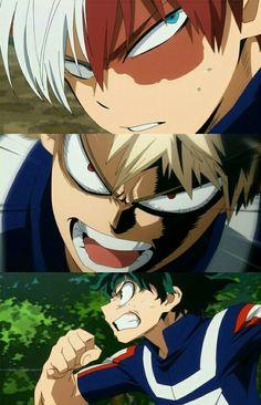 Boku no Hero Academia    Todoroki Shouto, Katsuki Bakugou, Midoriya Izuku, My hero academia #mha