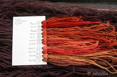 Riihivilla, Dyeing with natural dyes: Some colors from madder Krappivärejä